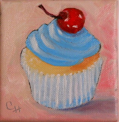 """Blue Lips"" original fine art by Claire Henning"