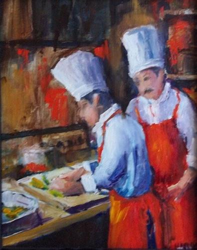 """Learning from the Master"" original fine art by Alice Harpel"