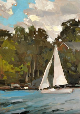 """Midday Sail"" original fine art by Jessica Green"