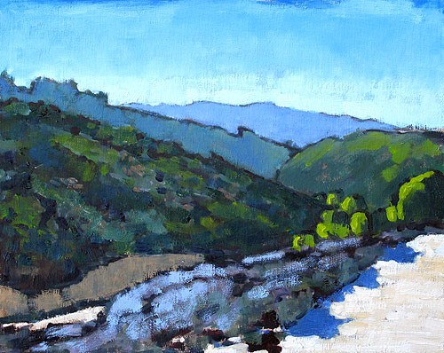 """La Jolla Canyon Painting"" original fine art by Kevin Inman"