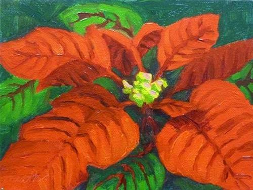 """Poinsettia I"" original fine art by Bobbi Heath"