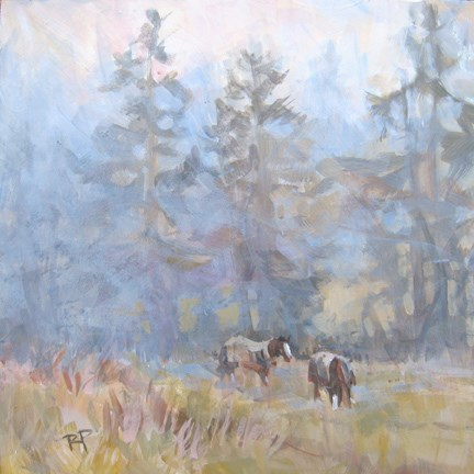 """WinterFog"" original fine art by Robin Peterson"