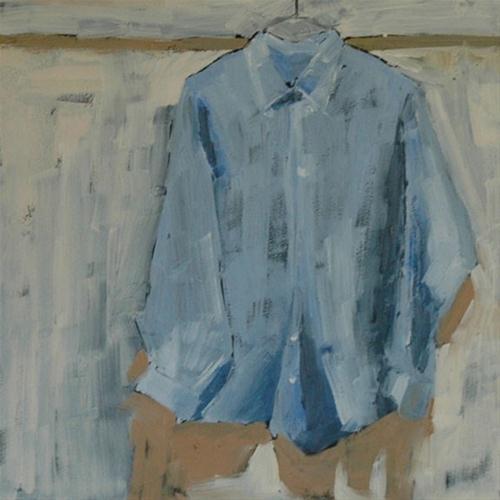 """HIS SHIRT"" original fine art by Linda Popple"