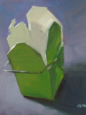 """Takeout Box --- SOLD"" original fine art by Carol Marine"