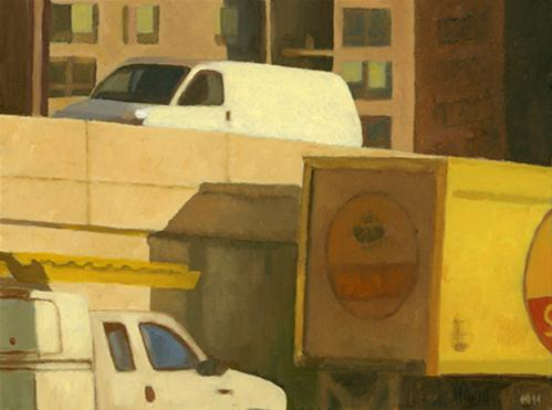 """UMBERS AND OCHRES ON THE ROAD"" original fine art by Nancy Herman"