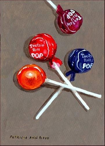 """Tootsie Pops"" original fine art by Patricia Ann Rizzo"
