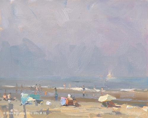 """Seascape summer # 10 Summer morning"" original fine art by Roos Schuring"