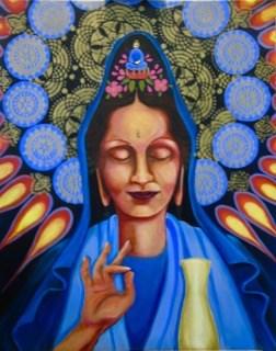"""Quan-Yin"" original fine art by Patricia Murray"