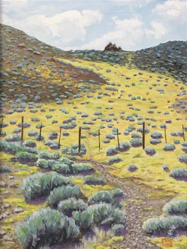 """Wild Yellow Desert"" original fine art by John F McGowan"