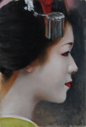 """Satohana in Profile"" original fine art by Phil Couture"