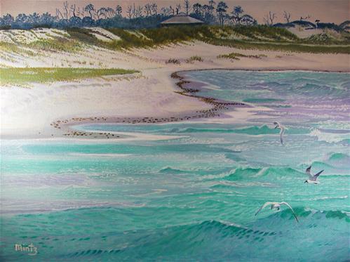 """""""Emerald Waters"""" original fine art by Alan Mintz"""