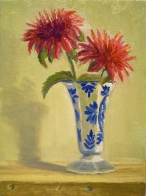 """Red Flower"" original fine art by Judith Anderson"