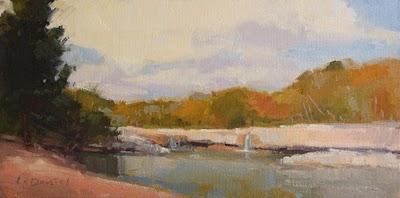 """Lower Falls"" original fine art by Laurel Daniel"