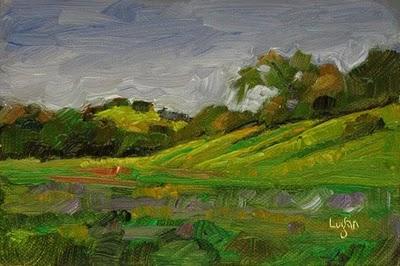 """Gaviota Meadow"" original fine art by Raymond Logan"