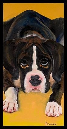 """Puppy Love"" original fine art by Nancy Levinson"