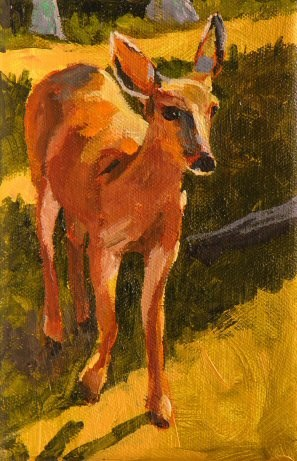 """Deer Friend"" original fine art by Mary McInnis"