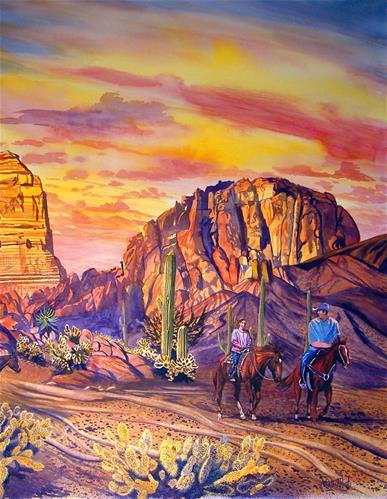 """""""Arizona"""" original fine art by Alan Mintz"""