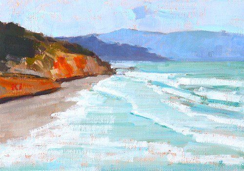 """Del Mar Beach Painting, San Diego"" original fine art by Kevin Inman"