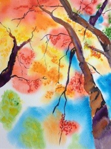 """October 8: Color of Fall"" original fine art by Dana Richards"