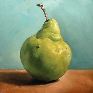 """""""Pear Portrait"""" original fine art by Michael Naples"""