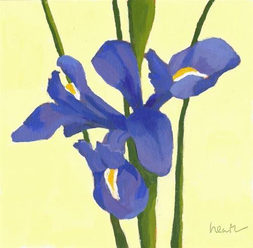 """Iris 6"" original fine art by Bobbi Heath"