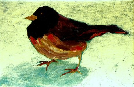 """Snowbird"" original fine art by Mary McInnis"