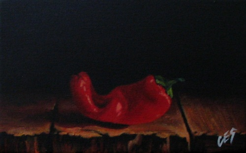 """Chili Pepper III"" original fine art by ~ces~ Christine E. S. Code"