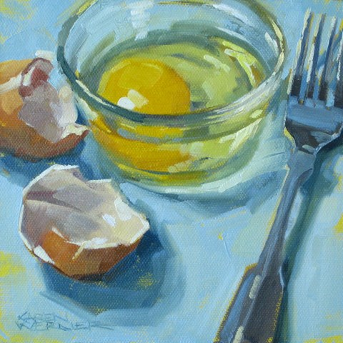"""Scramble Ready"" original fine art by Karen Werner"