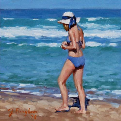 """Blue Bikini"" original fine art by Joanna Bingham"