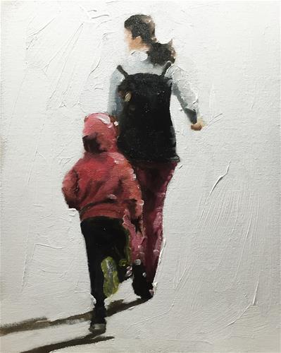 """Joggers"" original fine art by James Coates"