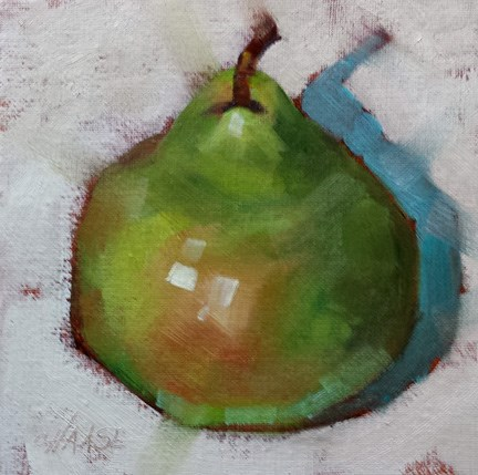 """Earthy Pear"" original fine art by Cindy Haase"