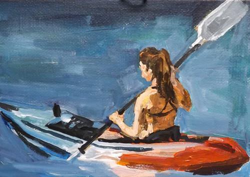 """Sports,U25"" original fine art by Run-      Zhang Zane"