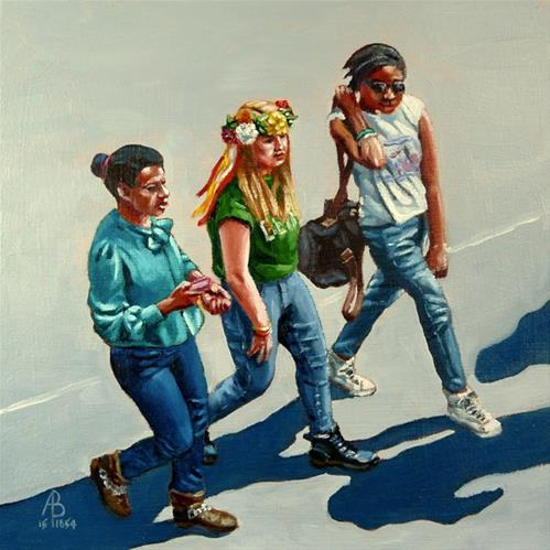 """Take Three Girls"" original fine art by Alix Baker"