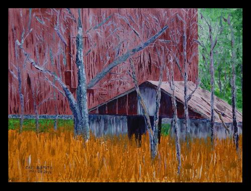 """The Old Shed"" original fine art by Captain B Smith"