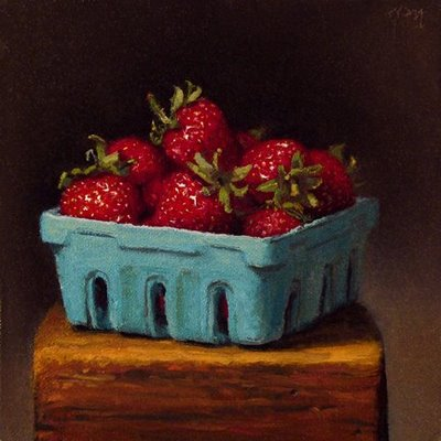 """Strawberries"" original fine art by Abbey Ryan"