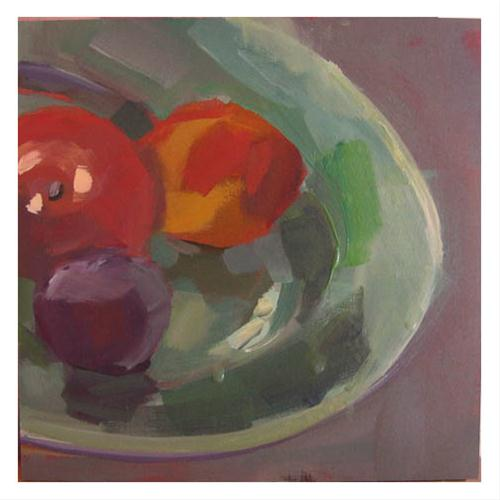 """""""#833 Fruit Platter"""" original fine art by Lisa Daria"""