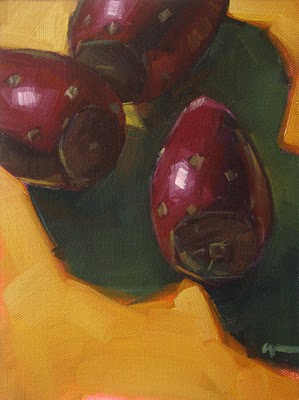 """Cactus Fruit --- SOLD"" original fine art by Carol Marine"