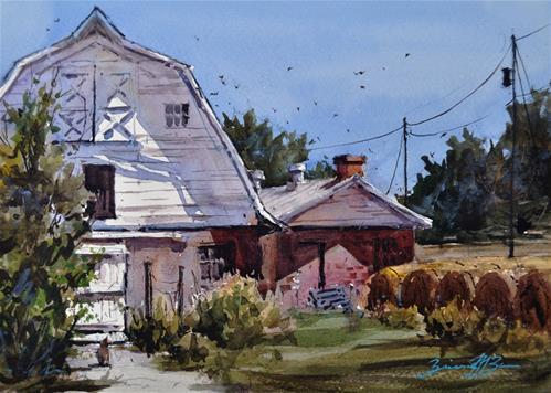 """""""Noon Shadows"""" original fine art by Brienne M Brown"""