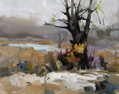 """Early Winter --- Sold"" original fine art by Qiang Huang"