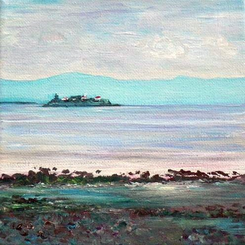 """1035 - The Island - Miniature Masterpiece Series"" original fine art by Sea Dean"