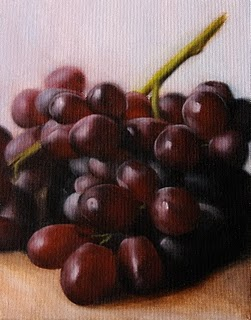 """Grapes 2"" original fine art by Jonathan Aller"