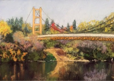 """THE GUY WEST BRIDGE"" original fine art by Marti Walker"