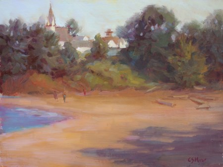 """Mendocino from Big River"" original fine art by Carol Myer"