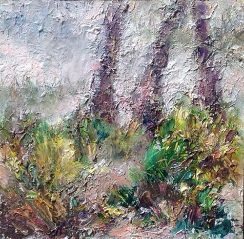 """Ground Floor of Floridian Forest"" original fine art by Judy Usavage"