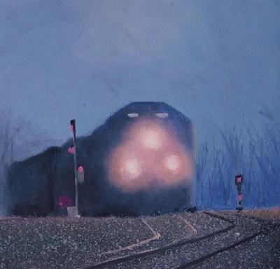ON TIME original fine art by Gerald Schwartz