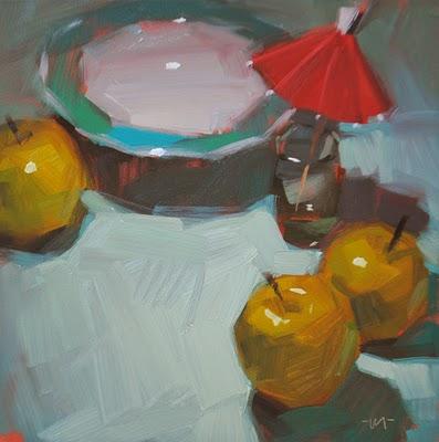 """Hula Party"" original fine art by Carol Marine"