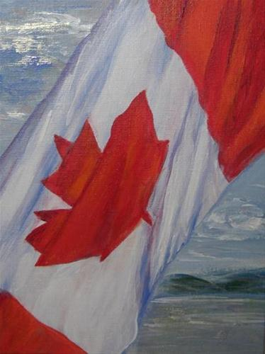 """2065 - True North - Flags of the World"" original fine art by Sea Dean"