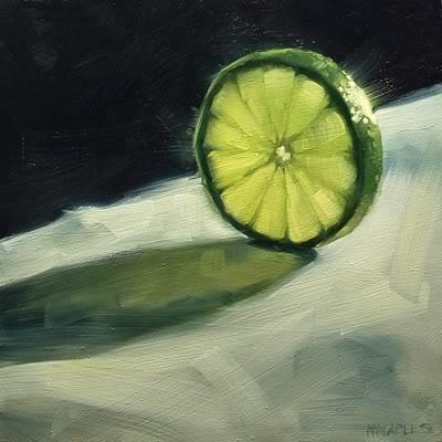 """Lime Slice"" original fine art by Michael Naples"