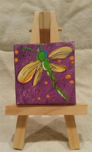 """Itty Bitty Dragonfly"" original fine art by Terri Einer"
