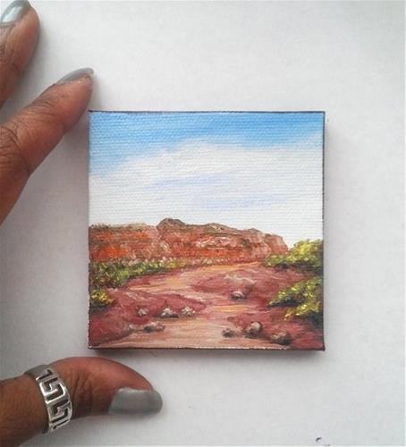 """Desert"" original fine art by Camille Morgan"